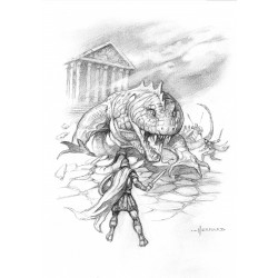 Illustration intérieure du roman Entre la Louve et l'Olympe