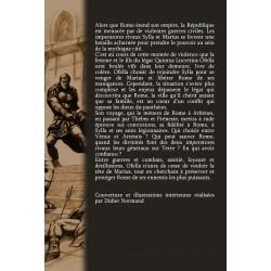 Quatrième de couverture du roman Entre la Louve et l'Olympe
