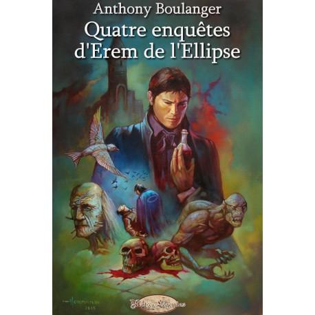 """Couverture et illustrations intérieures de l'ebook """"Quatre enquêtes d'Erem de l'Ellipse"""""""