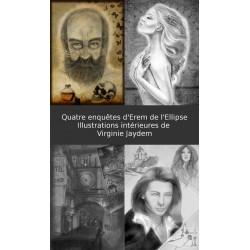 """Illustrations intérieures de """"Quatre enquêtes d'Erem de l'Ellipse"""""""